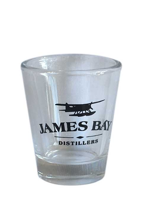 James Bay Distillers logo shot glasses